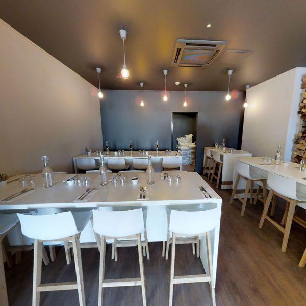 Restaurant erfasst in 3D als virtueller Rundgang.