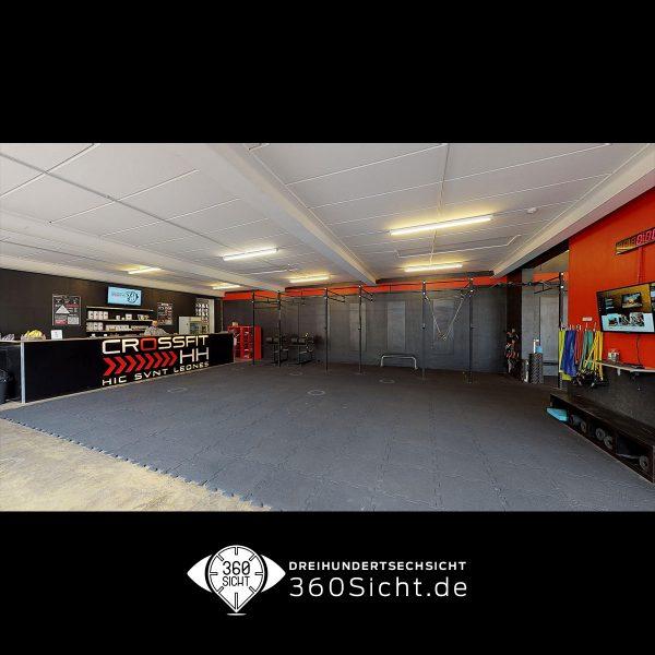 Google Street View für Fitnessstudio in Hamburg mit einem virtuellen 3D Rundgang
