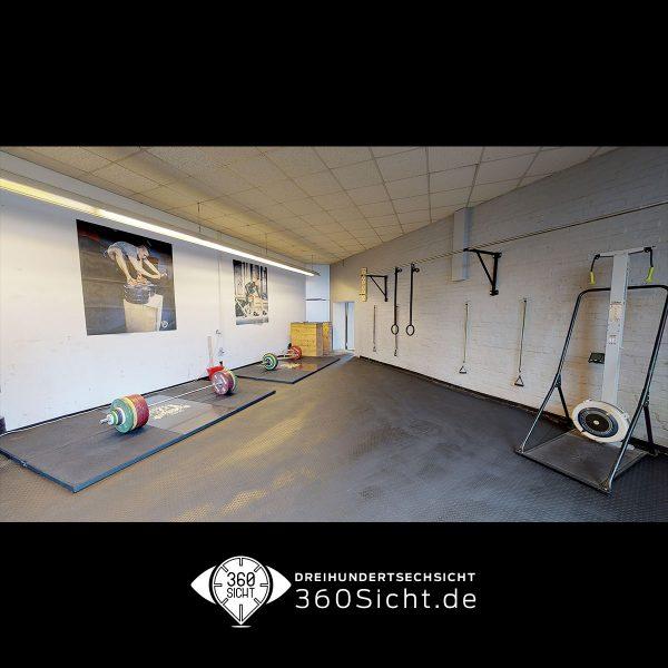 Sportstudio in einer 3D Tour für neue Kunden virtuell begehbar