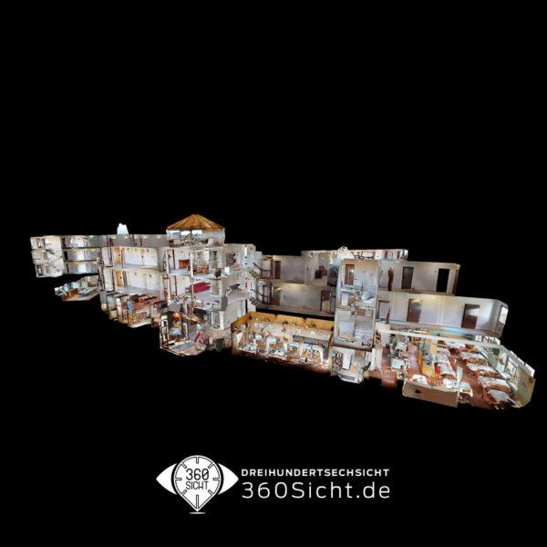 3D Tour für Ihr Hotel oder Unterkünft. Online für Ihre Gäste begehbar.