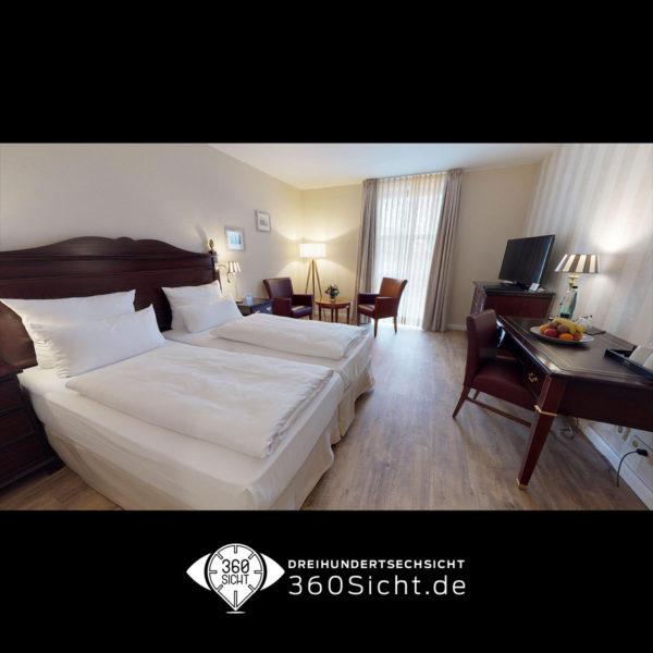 Hotelzimmer begutachten dank virtueller Tour in 3D. 36Sicht.de macht es möglich.